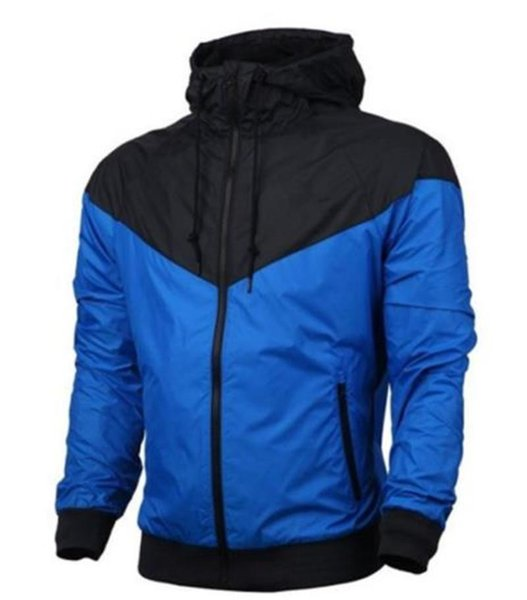 Contrast Color Mens Coats Cardigan Thin Jacket Outdoor Sports Fitness Long Sleeve Hooded Mens Sweatshirts With Zipper