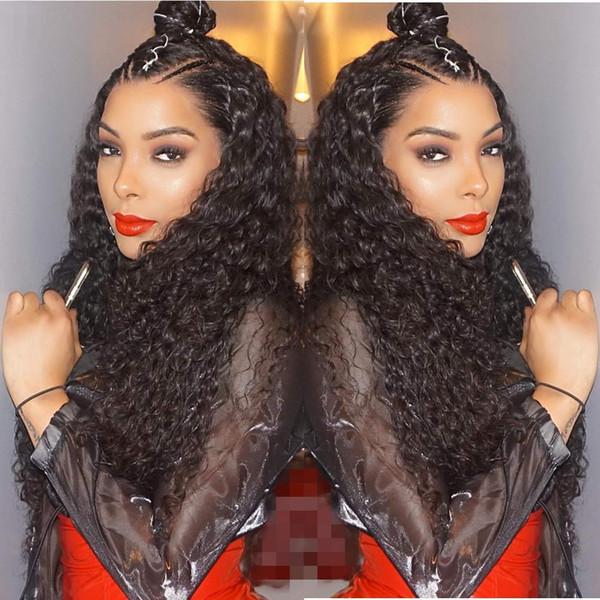 Parrucca anteriore dei capelli umani del pizzo dell'onda di acqua per le donne nere Pre Pizzicata parrucca anteriore del pizzo dei capelli vergini peruviani parrucca anteriore del merletto di Remy di 150%