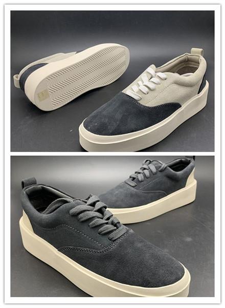 Actualización de Fear Of God x Calzado casual para hombre The Season 5 Suede Skateboarding Shoes Luxury Slip-On de lujo FOG Fashion Designer Shoes 3A