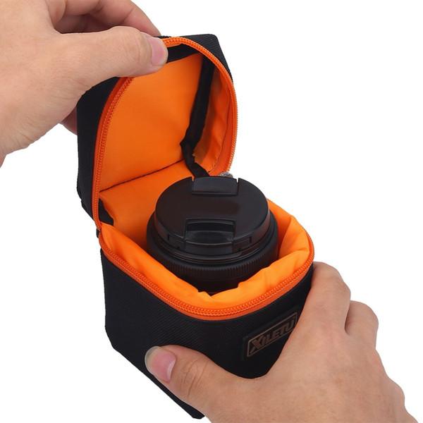 SOONHUA Bolsa de lente de cámara acolchada gruesa de 7 mm A prueba de golpes Lente de cámara suave duradera Funda protectora para DSLR