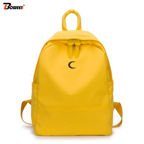 Preppy Style Student School Backpack School Bags for Girls Teenagers Canvas Back pack Women Schoolbag Simple Solid Bookbag 2019