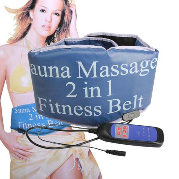 Health Care 2 in 1 Professional Slimming Sauna Vibrating Heating Belt Massager Tummy Tuck Shaper wear Slimmer Massage Fat Burner Y181122