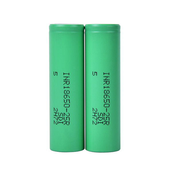 top popular 100% High Quality 18650 Battery With 2500mAh MAX Rechargable Lithium Batteries For Cells Fit Vape Box FJ752 2021