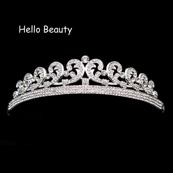 ashion Jewelry Hair Jewelry Classical Vintage Crystal Rhinestone Wedding Luxury Hair Accessories Imperial Prom Crown Bridal Princess Quee...