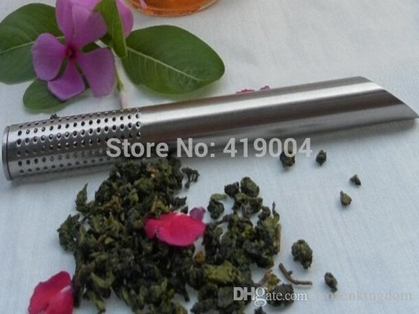 Fedex DHL libera il trasporto in acciaio inossidabile Tea filtro Sticks Cucchiaino Scolapasta Teiera Stick, 500pcs / lot 160.404 #