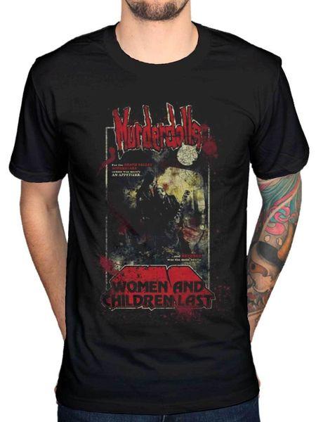 Resmi Murderdolls 80 s Korku Kadın Ve Çocuk Posteri Grafik T-Shirt Merch Erkek Kadın Unisex Moda tshirt Ücretsiz Kargo siyah