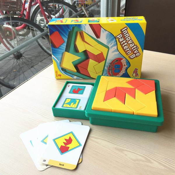 Jeux de société Jeux de puzzle Jouets éducatifs rigolos Pièces de puzzle en plastique Tangram Puzzle de jeu de puzzle Tangram pour enfant IQ Brain T ...
