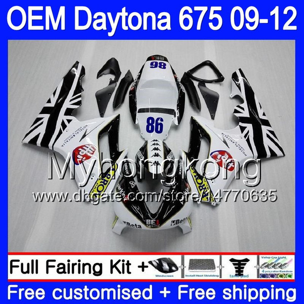 Injection light white For Triumph Daytona 675 09 10 11 12 Bodywork 323HM.21 Daytona-675 Daytona675 Daytona 675 2009 2010 2011 2012 Fairing
