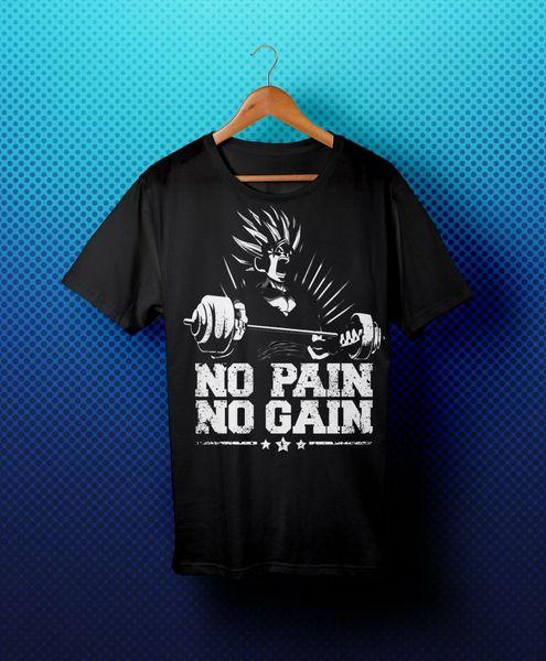 Compre No Hay Dolor No Hay Ganancia Motivación Goku Dbz Warrior Camiseta Negra Camiseta Divertida Rl103 A 12 7 Del Space84 Dhgate Com