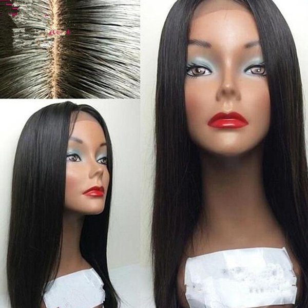 Brazilian Virgin Hair 150% Density Full Lace Wigs For Black Women 10-26 inch Silky Straight Glueless Front Lace Human Hair Wigs Baby Hair