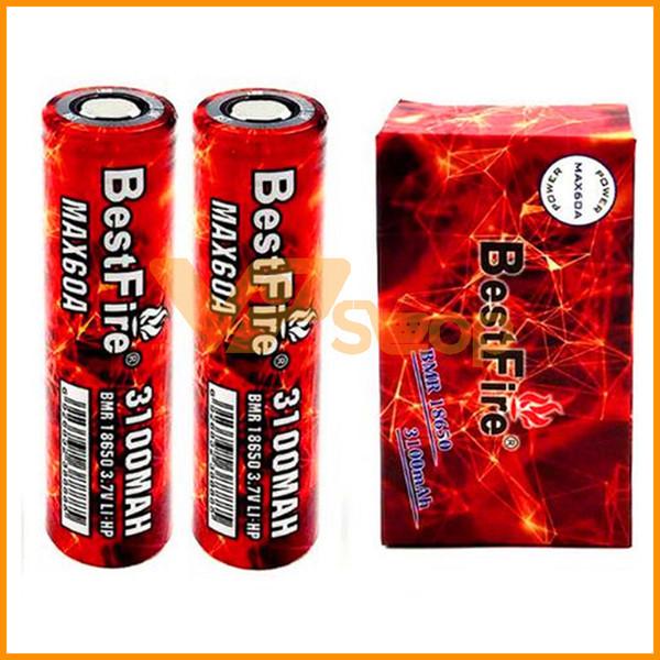 Original Bestfire BMR 18650 Batteria 60A 3100mAh Capacità Batteria Best Fire Ecig Vape Batterie per Sigarette elettroniche Box Mod Colori rosso
