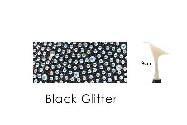 Black Glitter 9cm