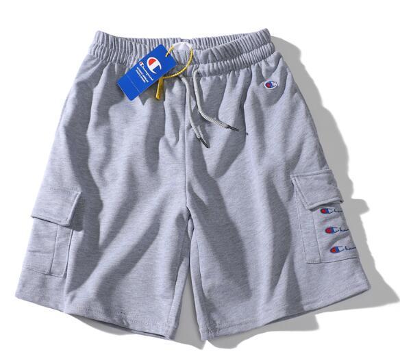 Europäische und amerikanische Explosionen Brief Druck Doppeltasche Baumwolle Männer und Frauen Paar Sport Mode Shorts, M-XXL-Code