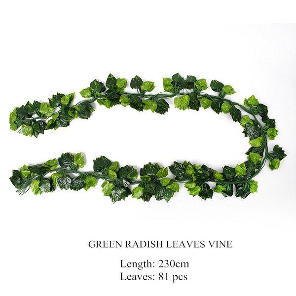 Verde 230 centimetri ravanello