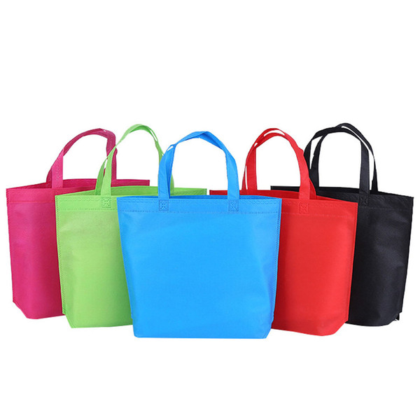 1 PC non-tissé sac pliable d'épicerie de stockage de magasinage réutilisable sac d'emballage de sac d'emballage écologique pour les magasins de supermarché de légumes