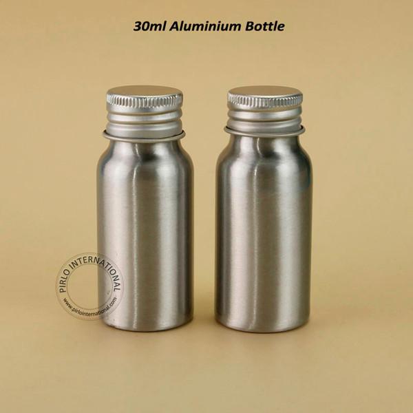 30ml de haute qualité bouteilles vides en aluminium 1 oz Conteneurs de maquillage pour huile essentielle, 30pcs pot cosmétique métal / lot Livraison gratuite