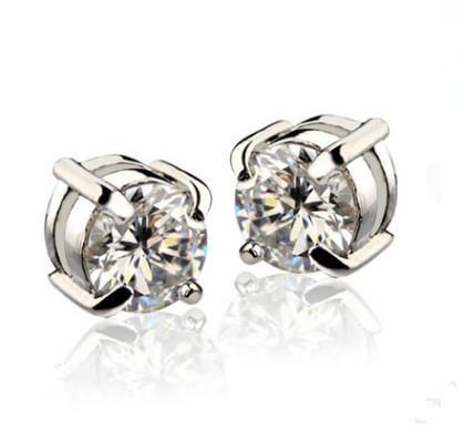 Orecchini in metallo lucido orecchio medico per le donne Uomini bianco nero magnete magnetico orecchini orecchio orecchini su nessun regalo foro orecchio
