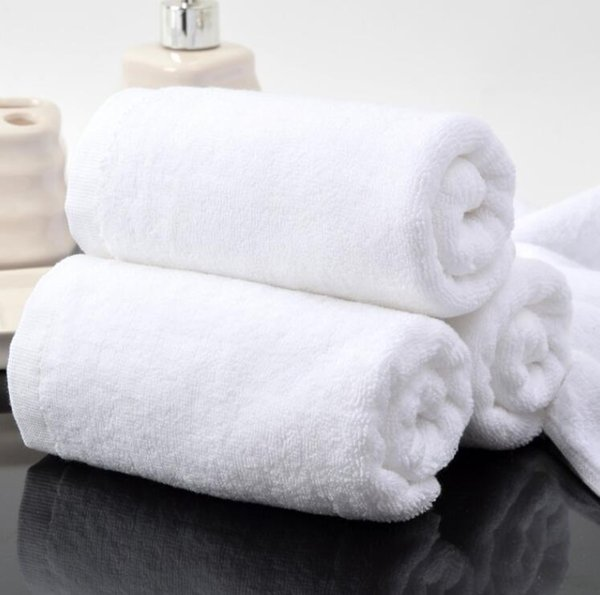 Whole Thicken White Cotton Hotel Towel Set Hotel Collection Bath Towel Sets Absortant Face Bath Towels For Beauty Salon OEM Logo Available