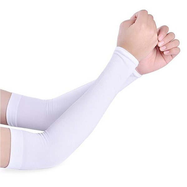 1 Pair Men Women Arm Warmers Summer Arm Sleeves Sun UV Protection outdoor Drive Sport Travel Warmers White Black Cover