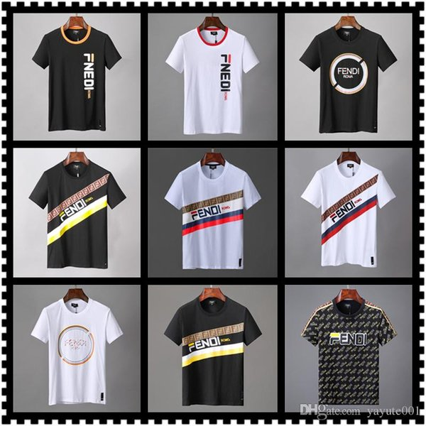 CHEAP Luxury Money Letter Print T-Shirts Brand Short Sleeve Tshirt Designer Duck Tees Males Loose Streetwear Tees Tops