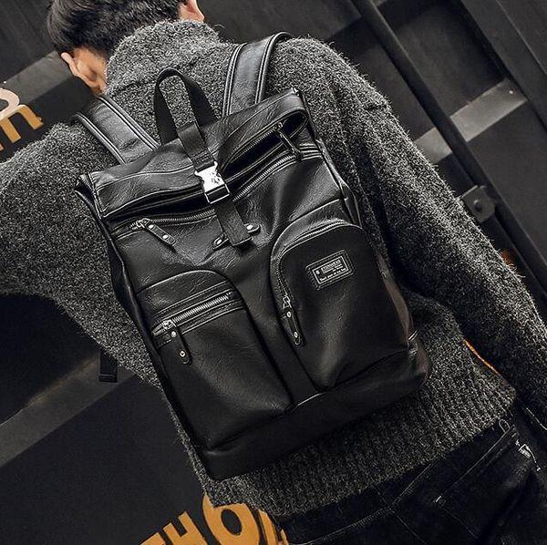 Outlet Marke Männer Handtasche multifunktionale Leder Student Taschen Multi-Compartment große Kapazität Computer Tasche Outdoor Reise Freizeit Leder