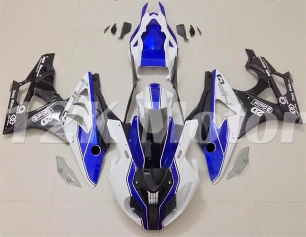 moule injection ABS moto carénages Kit pour BMW S1000RR 2009 2010 2011 2012 2013 2014 Carénage personnalisée bleu blanc noir mat