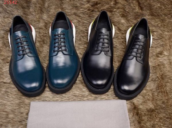 Nouveau style respirant formel en cuir d'affaires hommes chaussures en dentelle Oxford chaussures imprimées à rayures mariage chaussures en cuir occasionnels