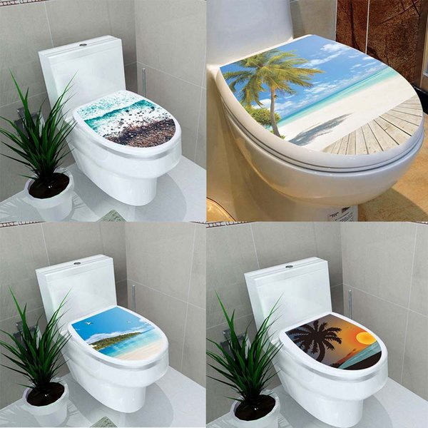 Terrific Toilet Seat Stickers L Vinyl Self Adhesive Bathroom Decorative Paste Bathroom Decoration Waterproof Painting Wall Sticker Big Wall Decals Big Wall Gmtry Best Dining Table And Chair Ideas Images Gmtryco
