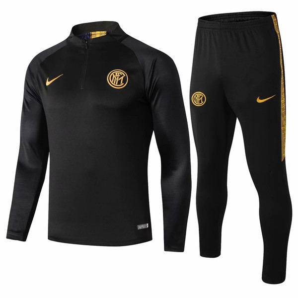 best selling good quality new 19 20 inter milan tracksuits Mauro jacket 2019 2020 soccer jersey Perisic training suit Nainggolan Hoodie coats