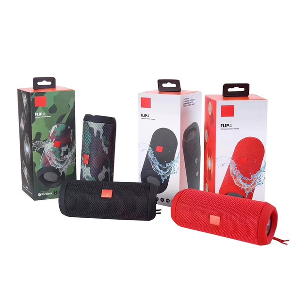 Wirele flip 4 portable peaker colorful flip4 audio waterproof portable bluetooth audio tereo peaker with ubwoofer feature