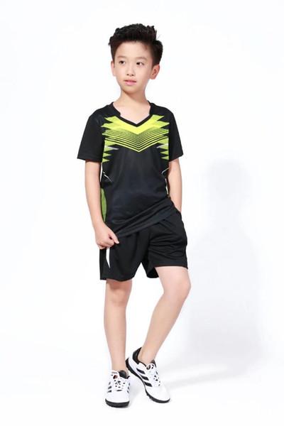 2018 New Student Tennis Shirt Sets , Children badminton set , Kids Table Tennis Clothing Boy Table T Shirt + Shorts Plus Size