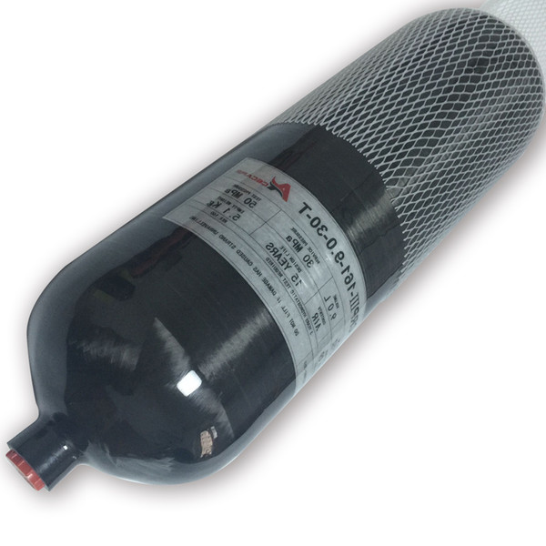Acecare 2018 New Design Black 9L Carbon Fiber SCBA Cylinder Pcp Air Condor/Paintball/SCUBA Diving Carbon Air Tank