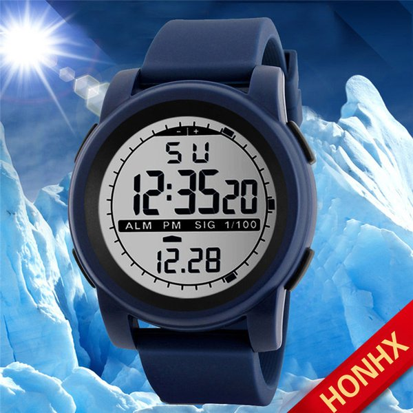 Army Green Multi-Function 30M Waterproof LED Digital Watch sports watches fashion LED silicone digital watch for men 20