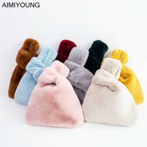 AIMIYOUNG Women Day Clutches Faux Fur Crossbody Bags For Women Messenger Bags Shoulder Bag Handbags Bolsa Feminina Bolsos Mujer