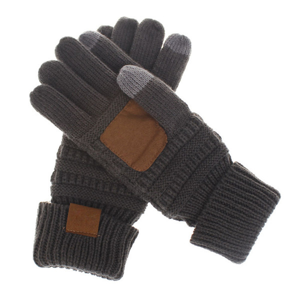 Winter Knitted C Gloves made in China Touch Screen Gloves 5 Colors Fashion Stretch Woolen Knit fation Warm unisex Full Finger