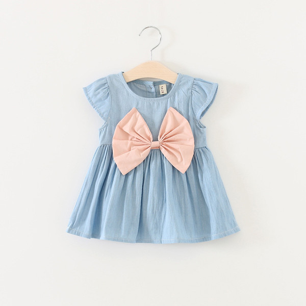 good quality Cute Baby Girl Dress Jeans Children Kids Baby Denim Dresses One Piece Baby Summer Clothing For Casual Wear Clothes Girl