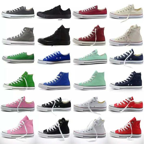 2020 nuevos zapatos Unisex zapatos de lona Niños grandes Hombres Mujeres Low-Top Zapatos deportivos de alta calidad Zapato de lona Envío gratis
