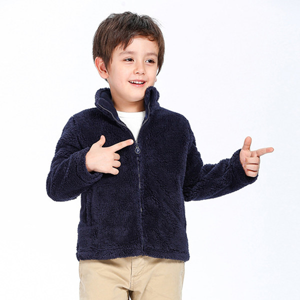 Spring Fall Winter for Children Kids Boy Girls Cute Soft Polar Fleece Jacket Coat Outerwear Cardigan Clothes Sweatshirt