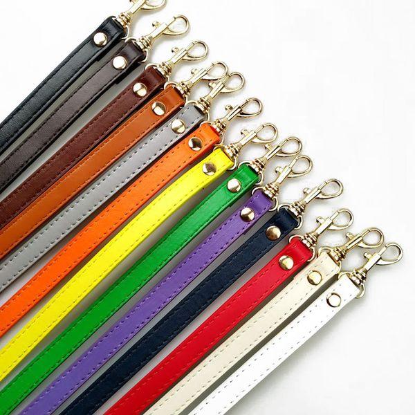 Mujeres de la moda de Color Sólido Bolso Ajustable DIY Mango PU Correa de Cuero Hebilla Bolsa de Hombro Accesorios Cinturones Largos 120 cm