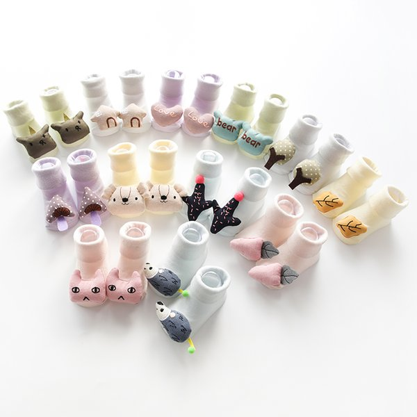 Baby Cotton Socks Infant Cute 3D Cartoon Sock Toddler Creative Anti-Slip Floor Socks Spring Autumn Kids Fashion 0-18 Months