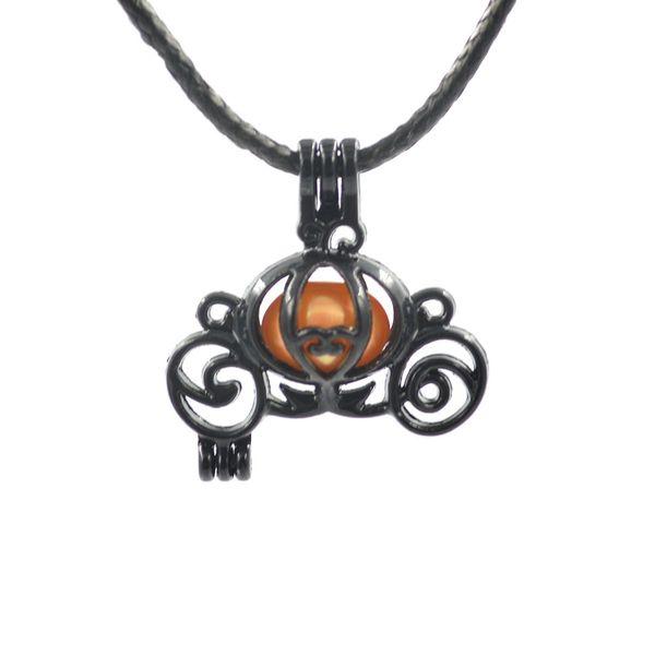 Venta al por mayor 100 unidades de alta calidad chapado negro perla jaula moda mujeres necklac colgante para akoya joyería de ostras bricolaje envío gratis