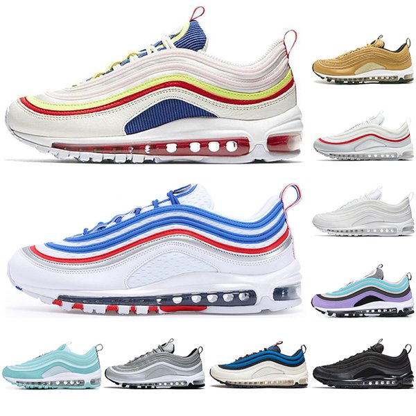 fashion luxury designer sneakers men women running shoes balck metallic gold south beach prm yellow triple white mens trainers sports 36-45, White;red