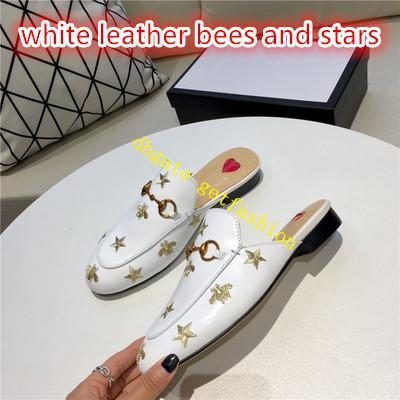 blanc avec abeille étoile leaher