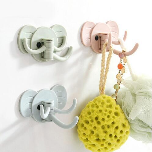 Cute Strong Multipurpose Suction Hooks Hanging Seamless Sticker Wall Door Clothes Hanger Kitchen Bathroom Towel Storage GB692