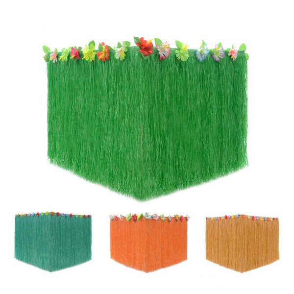 Hawaï anniversaire le jour de Noël Décoration Plastique Accueil Outdoor Vert Orange Hot Vendre Party Décoration de table 11 5KF D1