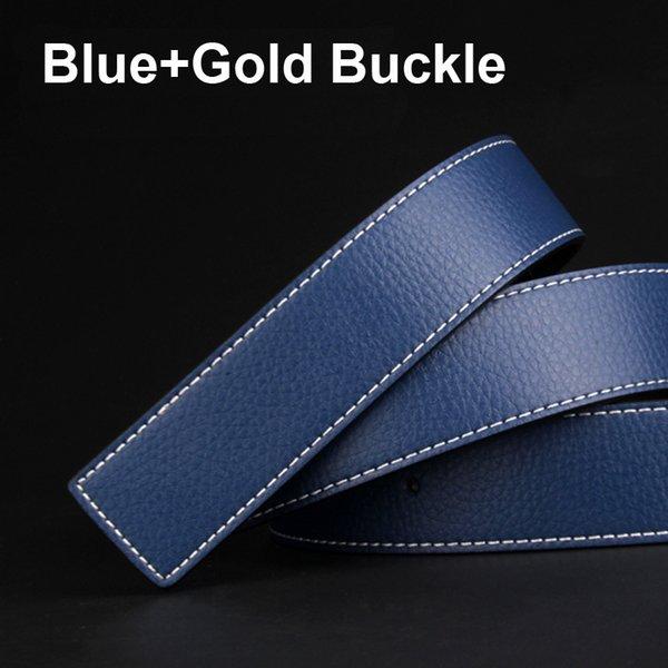 الأزرق + الذهب مشبك