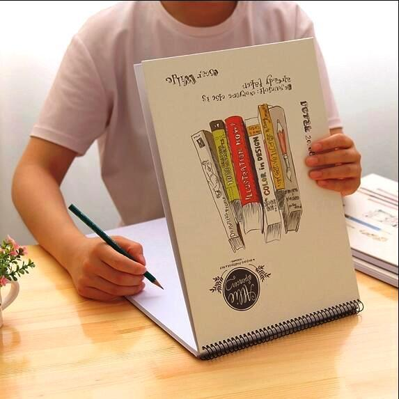 """""""allie Spencer"""" Big Art Sketchbook Drawing Notepad Blank White Papers Study Working Notebook"""