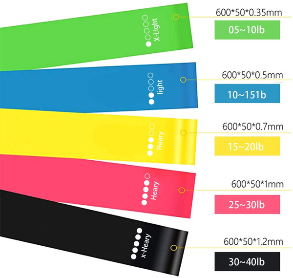 best selling Fitness Resistance Bands, Different Resistance Levels&Skin-Friendly Exercise Loop Bands, Home Gym Yoga Latex Training Band for Men Women