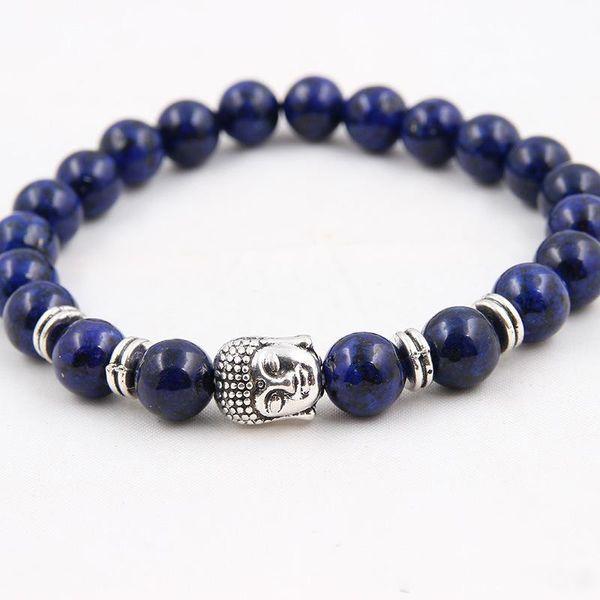 Wholesale 8 pcs/lot Men's Beaded Buddha Bracelet, Turquoise, Black Onyx, Red Dragon Veins Agate, Tiger Eye Semi Precious stone Jewerly
