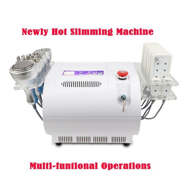 Recién caliente-Venta Profesional 40K Ultrasónico Cavitación Vacío Bipolar Tripolar RF Cuerpo Cara Piel Tighten Lipo Laser Pérdida de grasa que adelgaza la máquina